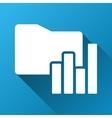 Charts Folder Gradient Square Icon vector image