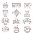Coffee monogram icon vector image