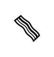 Bacon Icon Flat vector image