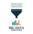 big data analitics filter data processing find vector image