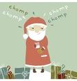 Card with Santa Claus vector image