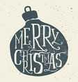 Christmas greeting card Handmade Hand lettering vector image