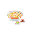 crab fried rice vector image