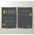 Design Template black Paper vector image