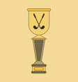 icon in flat design golf cup vector image