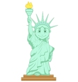 Liberty statue cartoon vector image