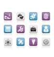 Science and research icons vector image