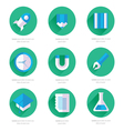 Set of flat design icons with long shadows vector image
