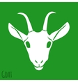 The Goat Silhouette Isolated on Background vector image