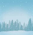 Vintage winter forest landscape background vector image