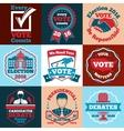 Set of Vote labels badges for elections vector image
