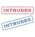 intruder textile stamps vector image