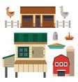 farm house food outdoor barn building clean meadow vector image