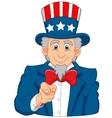 Uncle Sam cartoon wants you vector image