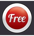 Free button red round sticker vector image vector image