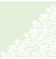 white guipure border on green background vector image vector image