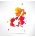 Abstract background notes and splatter vector image