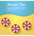 Sunshade on the beach vector image