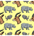 seamless background with African animals vector image