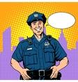 good cop police vector image