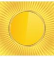 golden circle vector image vector image