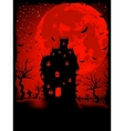 scary halloween castle vector image vector image