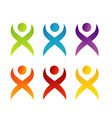 Abstract people- colorful people isolated logos vector image
