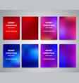 christmas flyer design templates vector image