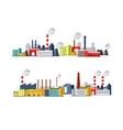 Set of Industrial Buildings vector image