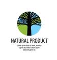 Tree logo Oak icon Nature ecology symbol vector image