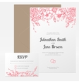 vintage floral wedding invitation vector image