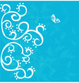 Curly floral background vector image vector image