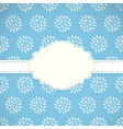 frame with nature pattern vector image