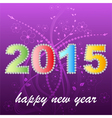 2015 year greeting card design vector image