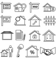 Real Estate line icons set vector image