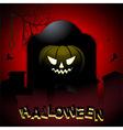 Halloween tombstone and pumpkin background vector image vector image