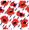 Seamless pattern of bright poppies Floral pattern vector image