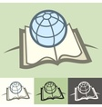 Globe on book vector image vector image