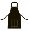 Black apron with outsets and pocket vector image vector image