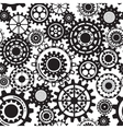 Black gears steampunk seamless pattern vector image