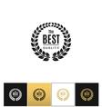 Floral wreath logo ot best design label vector image