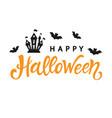 happy halloween typography poster vector image