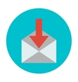 incoming messages icon vector image