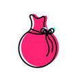 isolated santas bag design vector image