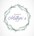 mother s day typographical design element vector image