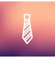 Necktie thin line icon vector image