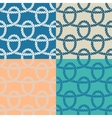 Set of 4 marine rope loop seamless pattern vector image