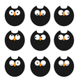 set of icons owls vector image