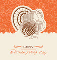 Turkey bird background for Thanksgiving day card vector image