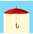 umbrella under rain vector image